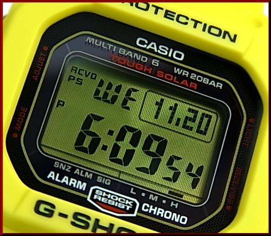CASIO/G-SHOCK 솔러 전파 손목시계 30주년 기념 한정 모델 Lightning Yellow/라이트닝이에로(국내 정규품) GW-M5630E-9 JR