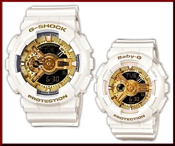 CASIO/G-SHOCK/Baby-G페어 워치 30주년 기념 스페셜 페어 모델 퓨어 화이트×골드(국내 정규품) GBG-13 SET-7 AJR