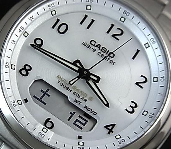 CASIO/Wave Ceptor 맨즈 손목시계 솔러 전파 손목시계 티탄 모델 화이트 문자판 메탈 벨트(국내 정규품) WVA-M630TDE-7 AJF