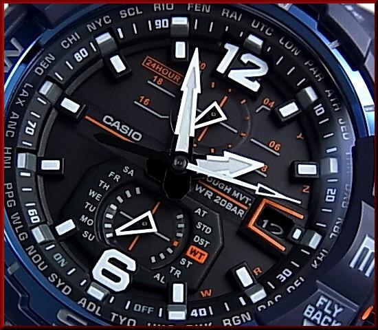 CASIO/G-SHOCKSKY COCKPIT / sky cockpit mens solar radio watch Navy Blue (regular products) GW-A1100-2AJF