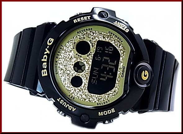 CASIO/Baby-GGlitter Dial Series / glitter-dial series Womens watch black / gold BG-6900SG-1 (overseas model)