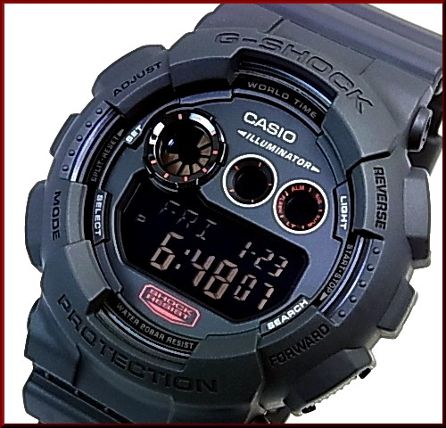 CASIO/G-SHOCKMilitary black series/밀리터리 블랙 시리즈 남자 시계 (국내 정품) GD-120MB-1JF