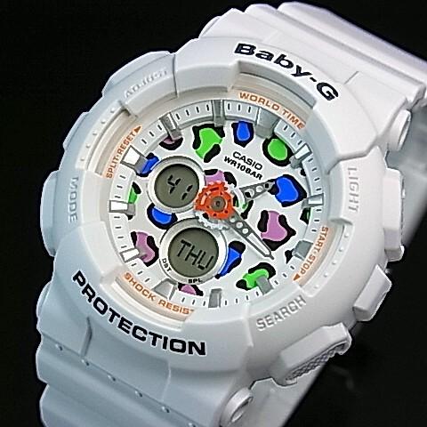 CASIO/Baby-G【カシオ/ベビーG】Leopard Series/レオパードシリーズ レディース腕時計 ホワイト 海外モデル【並行輸入品】BA-120LP-7A1