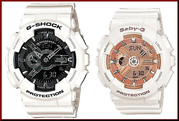 164e34105561 Bright Casio G Shock Baby Pa Watch An Og Digital White