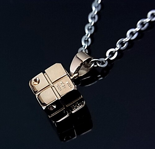 LION HEART and stainlesaxepeanecklace cubic top stainless necklace 04N136SM/04N136SL (Japanese regular Edition)