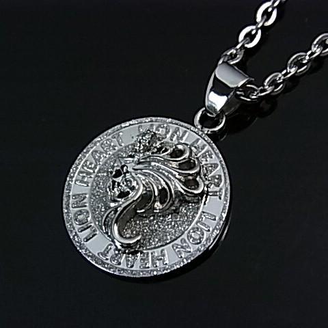 Bright rakuten global market lion heart stainlesaxemens lion heart stainlesaxemens lionmochief coin top stainless necklace black 04n144sm japanese regular edition aloadofball Images