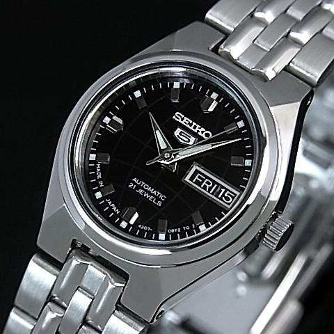 SEIKO/オートマチック【セイコー/自動巻】レディース腕時計【SEIKO5/セイコー5】メタルベルト ブラック文字盤 MADE IN JAPAN 海外モデル【並行輸入品】 セイコーファイブ SYMK43J1