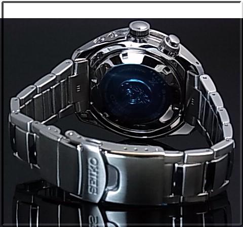 SEIKO/PROSPEX キネテック GMT 200m 방수 공기 잠수 다이 버 남자 시계 블랙 문자판 메탈 벨트 SUN019P1 (해외 모델)