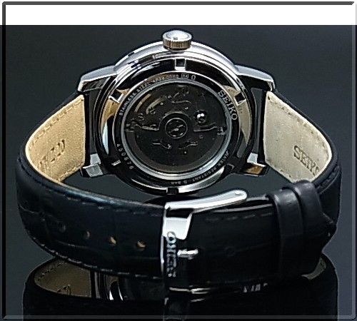 SEIKO/Automatic self-winding watch men watch black clockface black leather belt SSA233K1 foreign countries model