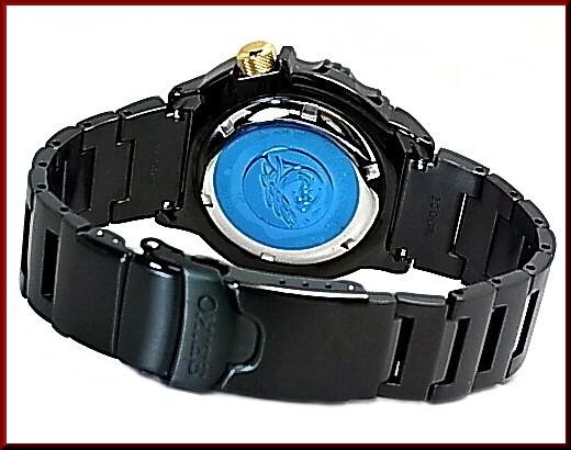 SEIKO/PROSPEX 200 m diver's watch automatic winding men's watch black metal belt black / gold letter Edition overseas model SRP583K1