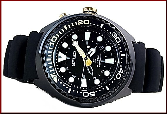 SEIKO PROSPEX kinetic GMT 200 m waterproof air for diving diver 50th  anniversary Memorial model men s watch black case black letter Edition  black rubber ... fe6b46c7e