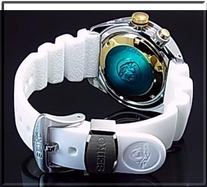 SEIKO/PROSPEX キネテック GMT 200m 방수 공기 잠수 다이 버 워치 50 주년 기념 모델 남자 시계 화이트 문자판, 화이트 러 버 벨트 SUN043P1 (해외 모델)
