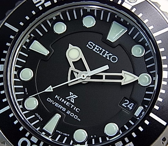 SEIKO/KINETIC 드라이버 남성용 손목시계 블랙 문자판 메탈 벨트 SKA371P1 (해외 모델)