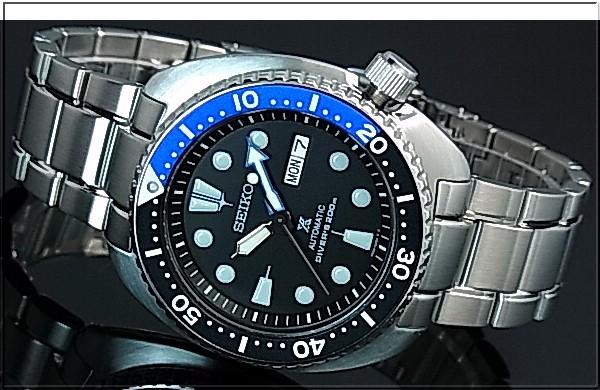 SEIKO/PROSPEX/200m diver 's watch 자동 권 블랙/ブルーベゼル 남성용 시계 메탈 벨트 블랙 문자판 해외 모델 SRP787K1