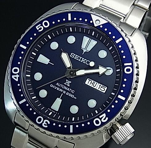 SEIKO/PROSPEX/200m diver's watch【セイコー/プロスペックス/200m防水ダイバーズ】自動巻 ネイビーベゼル メンズ腕時計 メタルベルト ネイビー文字盤 海外モデル【並行輸入品】 SRP773K1