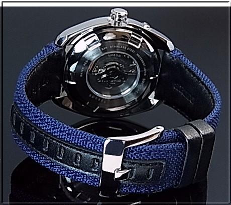 SEIKO/PROSPEX キネテック GMT 남성용 시계 해군 문자판 네이 비 캔버스 가죽 벨트 SUN059P1 (해외 모델)