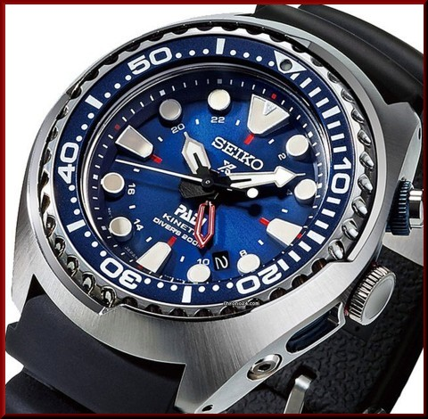 SEIKO PROSPEX PADI Special Edition Diver s watch Kinetic GMT Men s watch  navy Dial black Rubber strap SUN065P1 (reverse import model) 46b61c59ae