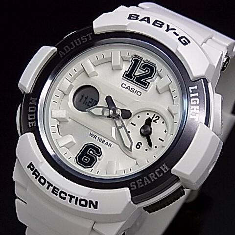CASIO/Baby-G【カシオ/ベビーG】ビッグナンバーインデックス レディース腕時計 ホワイト/ガンメタ 海外モデル【並行輸入品】BGA-210-7B1