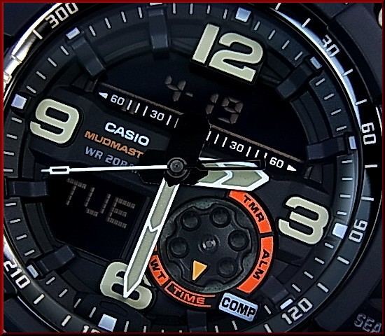 CASIO/G-SHOCKMUDMASTER/미친 마스터 매드 레지스터 및 트윈 센서 장착 남자 시계 ベイジュ (국내 정품) GG-1000-1A5JF
