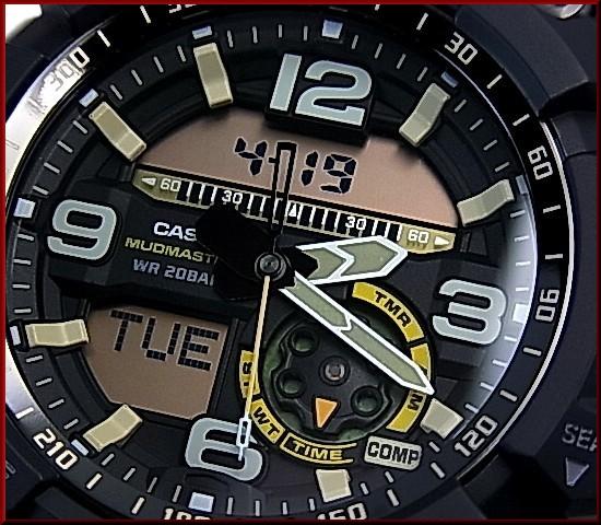CASIO/G-SHOCKMUDMASTER/미친 마스터 매드 레지스터 및 트윈 센서 장착 남자 시계 모스 그린 (해외 모델) GG-1000-1A3