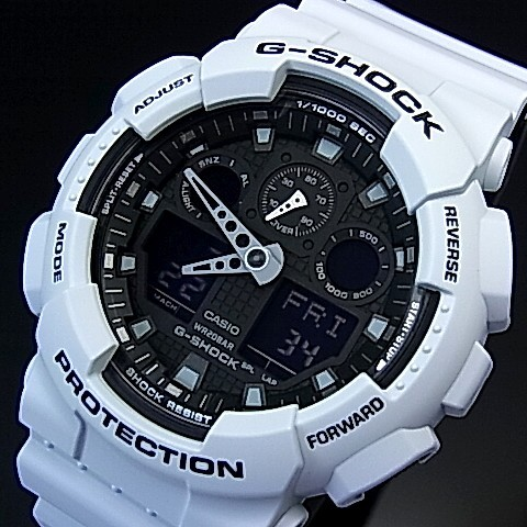 CASIO/G-SHOCK【カシオ/Gショック】アナデジモデル メンズ腕時計 ライトブルー/ブラック 海外モデル【並行輸入品】 GA-100L-7A