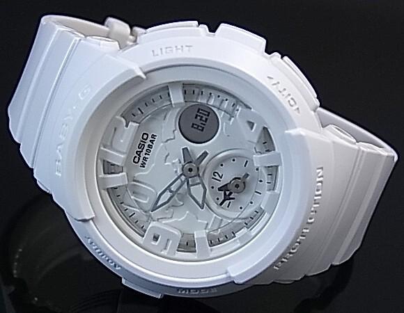CASIO/Baby-G 비치 트레블러 시리즈 숙 녀 시계 화이트 (국내 정품) BGA-190BC-7BJF