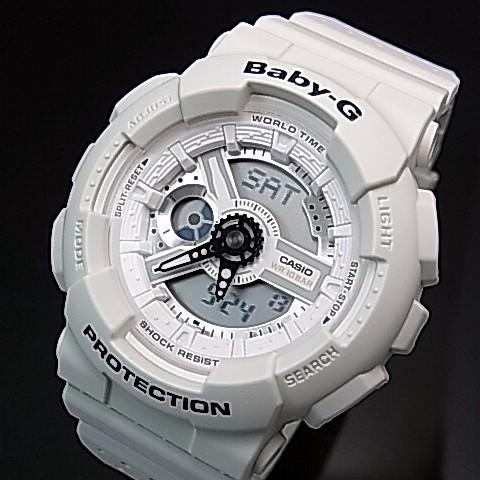 CASIO/Baby-G【カシオ/ベビーG】Punching Pattern Series/パンチング・パターン・シリーズ アナデジ レディース腕時計 ホワイト(国内正規品)BA-110PP-7AJF