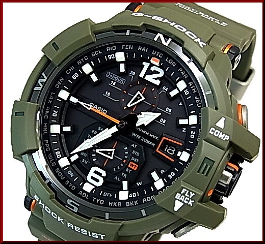 CASIO/G-SHOCKGRAVITYMASTER/グラビティマスター 남성 솔 러 전파 시계 Master in OLIVE DRAB/주인 인 감 람 담 갈색 (국내 정품) GW-A1100KH-3AJF