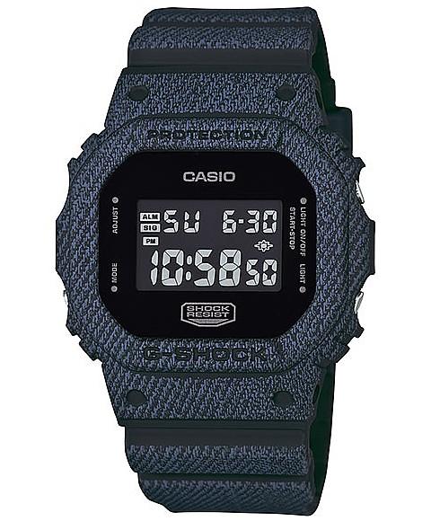 CASIO/G-SHOCK 남자 시계 DENIM 'D COLOR/데님 (해외 모델) DW-5600DC-1