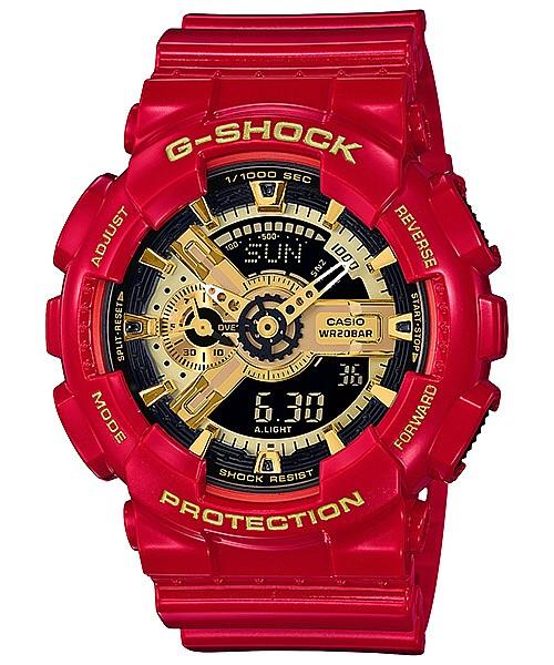 CASIO/G-SHOCK/Baby-G ペアウォッチアナデジ watch red / gold (domestic regular article) GA-110VLA-4AJF/BA-110VLA-4AJR