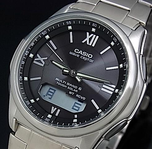 CASIO/Wave Ceptor【カシオ/ウェーブセプター】メンズ腕時計 ソーラー電波腕時計 ブラック文字盤 メタルベルト(国内正規品)WVA-M630D-1A4JF