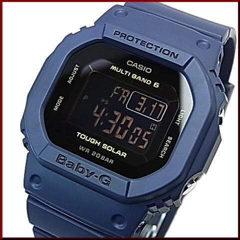 CASIO/G-SHOCK/Baby-G페어 워치 솔러 전파 손목시계 네이비 GW-M5610NV-2 JF/BGD-5000-2 JF(국내 정규품)
