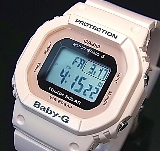 CASIO/Baby-G【カシオ/ベビーG】ソーラー電波腕時計 レディース ライトピンク(国内正規品)BGD-5000-4BJF