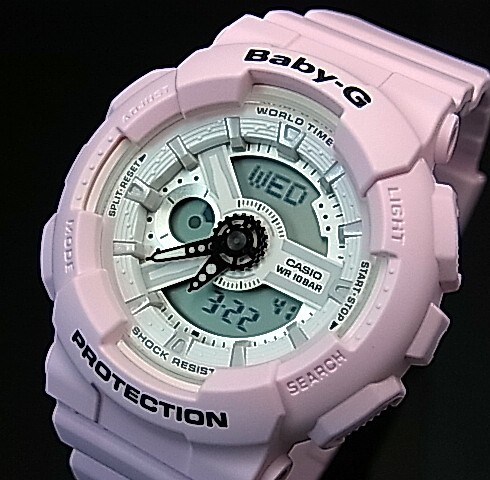 CASIO/Baby-G【カシオ/ベビーG】Beach Colors/ビーチ・カラーズ レディース腕時計 ライトピンク(国内正規品)BA-110BE-4AJF
