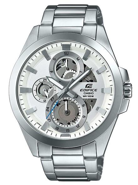 CASIO/EDIFICE【カシオ/エディフィス】マルチファンクション スケルトン メンズ腕時計 シルバー文字盤 メタルベルト 海外モデル【並行輸入品】 ESK-300D-7A