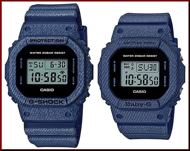 CASIO/G-SHOCK men watch DENIM' D COLOR/ デニムドカラー (overseas model) DW-5600DE-2
