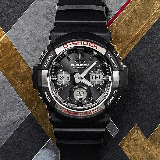 7575c906da6 ... CASIO G-SHOCK solar radio wave watch men's black rubber strap GAW-100-