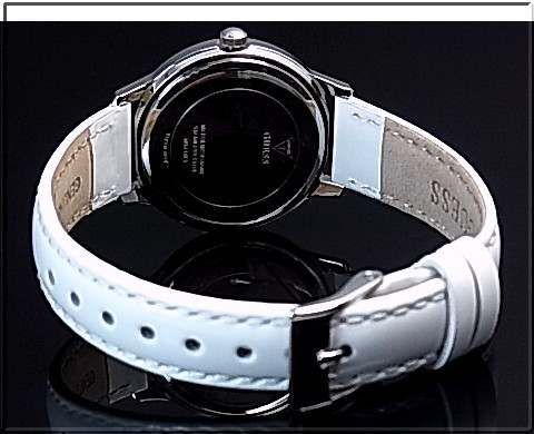 e150e1a36 ... GUESS/CHELSEA ladies watch white characters Edition White leather belt  W0648L5 (Japanese regular Edition ...