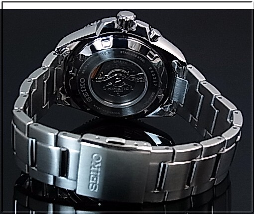 SEIKO/KINETIC men watch navy clockface metal belt (overseas model) SKA745P1