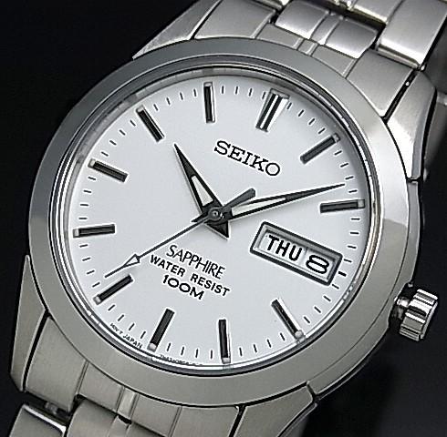 SEIKO/Quartz【セイコー/クォーツ】メンズ腕時計 メタルベルト ホワイト文字盤 SGG713P1 海外モデル【並行輸入品】