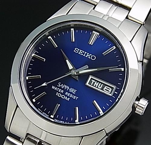 SEIKO/Quartz【セイコー/クォーツ】メンズ腕時計 メタルベルト ネイビー文字盤 SGG717P1 海外モデル【並行輸入品】