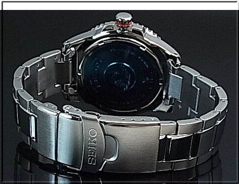 SEIKO/PROSPEX 맨즈 DIVER'S/다이바즈워치소라 손목시계 메탈 벨트 블랙 문자판 해외 모델 SNE437P1