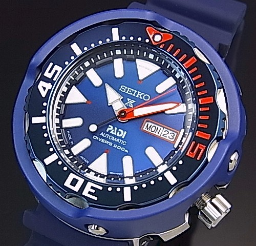 SEIKO/PROSPEX/200m diver's watch【セイコー/プロスペックス/200m防水ダイバーズ】PADI Special Edition 自動巻 ネイビーベゼル メンズ腕時計 ネイビーラバーベルト ネイビー文字盤 MADE IN JAPAN 海外モデル【並行輸入品】 SRPA83J1