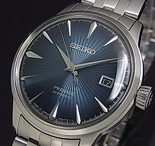 bright seiko presage mechanical automatic men s watch navy dial