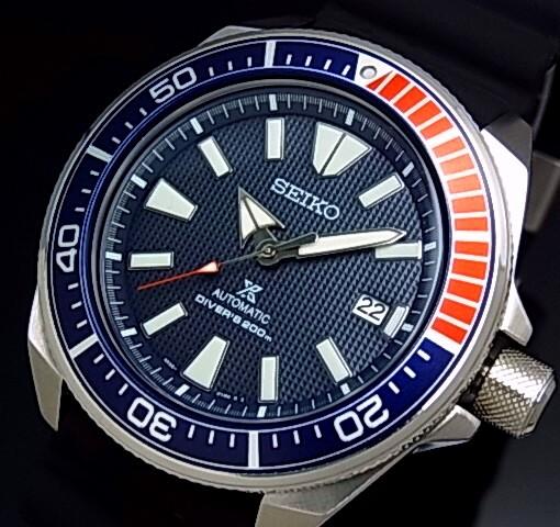 SEIKO/PROSPEX/200m diver's watch【セイコー/プロスペックス/200m防水ダイバーズ】サムライ 自動巻 メンズ腕時計 ブラックラバーベルト ネイビー文字盤 海外モデル【並行輸入品】SRPB53K1