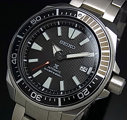 SEIKO/PROSPEX/200m diver's watch【セイコー/プロスペックス/200m防水ダイバーズ】サムライ 自動巻 メンズ腕時計 メタルベルト ブラック文字盤 海外モデル【並行輸入品】SRPB51K1