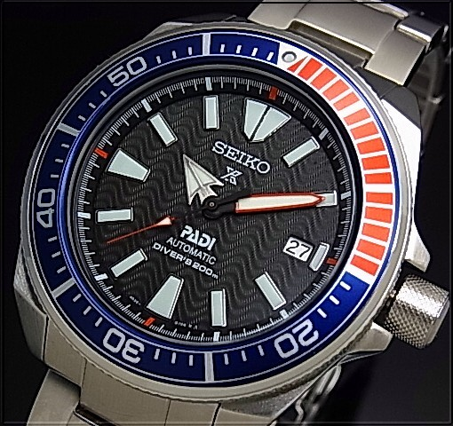 9fb0c2566 SEIKO/PROSPEX/Diver's watch samurai PADI Special Edition Automatic Men's  watch navy / red