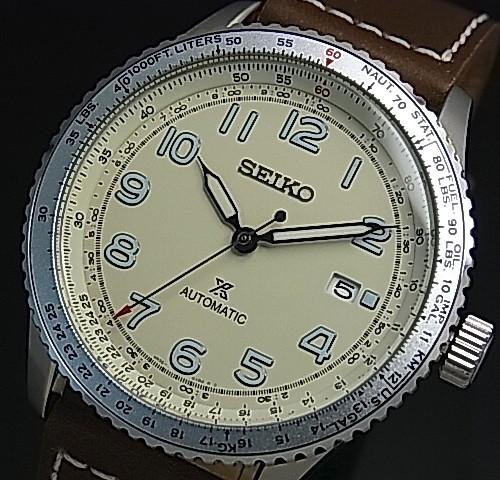 SEIKO/PROSPEX【セイコー/プロスペックス】自動巻 メンズ腕時計 ブラウンレザーベルト アイボリー文字盤 海外モデル【並行輸入品】 SRPB59K1