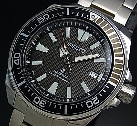 SEIKO/PROSPEX/200m diver's watch【セイコー/プロスペックス/200m防水ダイバーズ】サムライ 自動巻 メンズ腕時計 メタルベルト ブラック文字盤 MADE IN JAPAN 海外モデル【並行輸入品】SRPB51J1