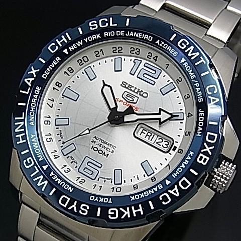 5c8bc2871 BRIGHT: SEIKO/SEIKO5 Sports Automatic Men's watch navy bezel ...